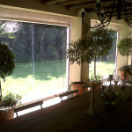 Clearview Blinds enclosing patio area