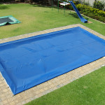PVC Pool Cover 600 micron, UV treated, eyelets, hooks, rope