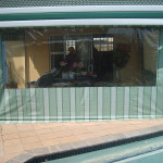 Top of the Range Canvas in green stripes